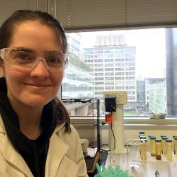 Annaclaire at her lab