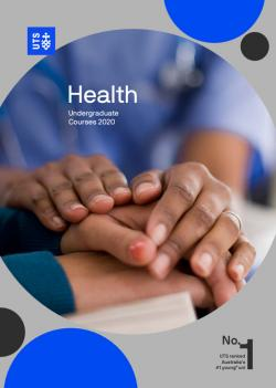 health undergraduate course guide cover
