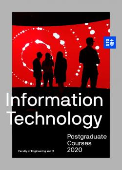 Cover of the UTS Information Technology postgraduate course guide 2020