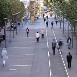 Pedestrians on The Goods Line