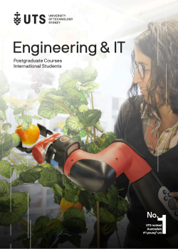 Cover of the UTS Engineering and IT international postgraduate guide