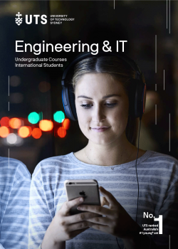 Cover of the UTS Engineering and IT international undergraduate guide