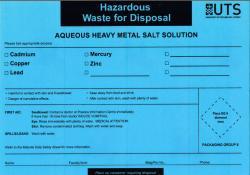 Aqueous Heavy Metal Salt Solution
