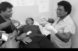 Nurses conducting practical