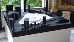 Model of the Dongdaemun Design Park by Zaha Hadid, exhibited in the Palazzo Franchetti, Venice