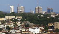 Accra skyline in Ghana