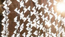 Urban Chandelier, a Chattanooga installation comprised of 999 carbon fibre rods and 6000 styrene triangles