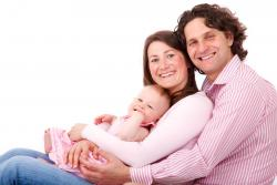 Family with young child