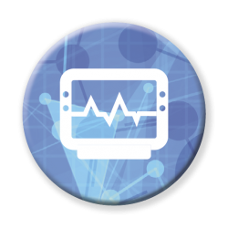 Icon representing the UTS health strategy on Health Technology and Digital Devices