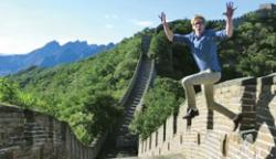 Exchange student Matthew Warr  in China