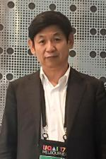Photo of UTS Professor Chengqi Zhang at the International Joint Conference on Artificial Intelligence 2017