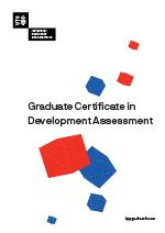 Graduate Certificate in Development Assessment Cover