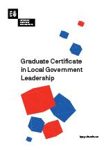 Graduate Certificate in Local Government Leadership Cover