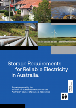 Storage requirements for reliable electricity in Australia front cover