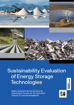 Sustainability Evaluation of Energy Storage Technologies front cover