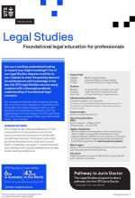 UTS Legal Studies flyer