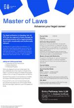 UTS Master of Laws flyer