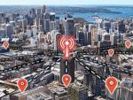 Thumbnail image showing data icons overlaid on an aerial view of Sydney