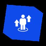 Icon - Person with upward arrows