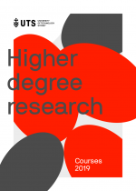 Cover of the UTS 2019 research course guide