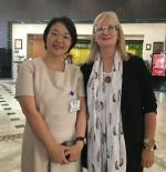 Dr Erika Ota, Professor of St Lukes International University WHO CC for Nursing Development in Primary Health Care, Japan, with Ms Michele Rumsey, WHO CC UTS Director