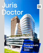 Juris Doctor post graduate 2020 course guide cover