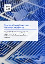 Report cover Renewable Energy Employment in Australia