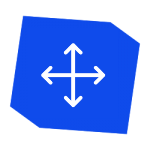 Icon with 4 arrows pointing in different directions