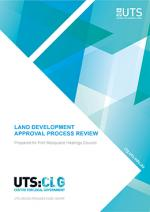 Land Development Approval Process Review Title Page