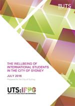 Cover of Wellbeing of International Students in the City of Sydney report