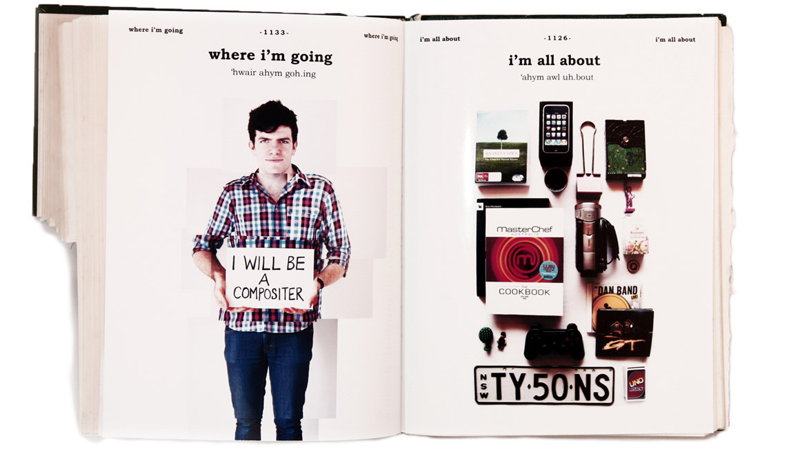 "Self-promotional artwork by Tyson Donnelly - ""Where I'm going"" and ""I'm all about"""