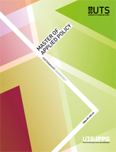 Master of applied policy course guide cover