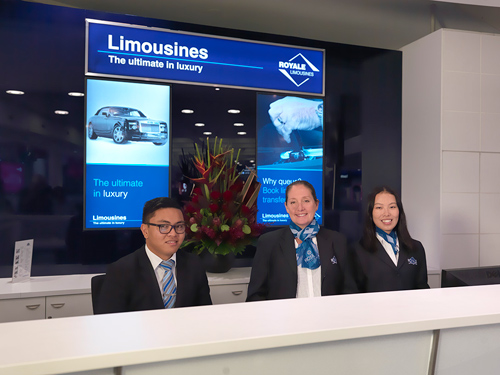 Royale Limousines Concierge desk