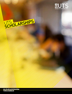 UTS scholarships brochure cover