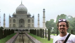 Exchange student Jonathon Meagher and the Taj Mahal