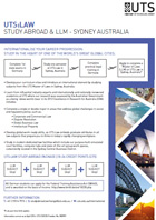 UTS: Law Study Abroad and LLM