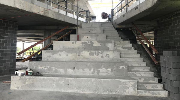 Staircase in the new Moore Park building