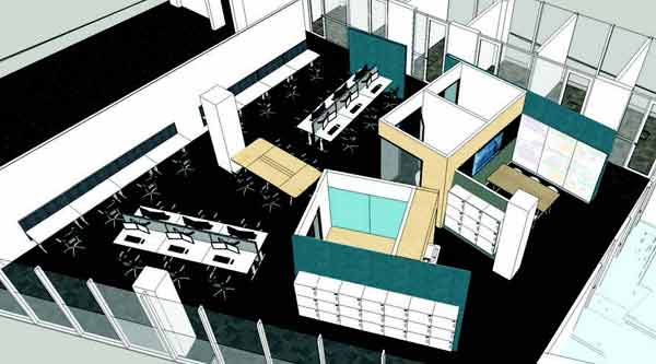 Artist illustration of the FEIT HDR workspace