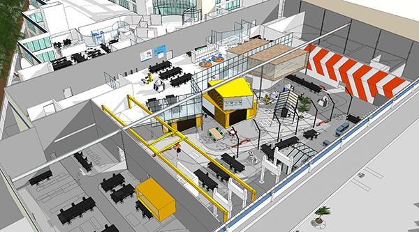 Artist's impression of the FEIT tech lab