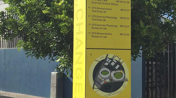 Moore Park wayfinding totem