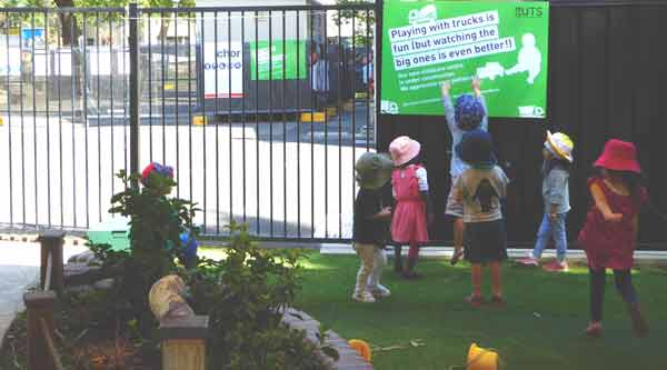 Children celebrate the start of work on the new Blackfriars Children's Centre