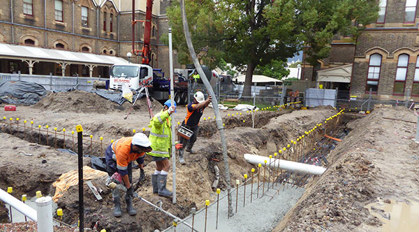 Foundations are poured for Blackfriars Children's Centre