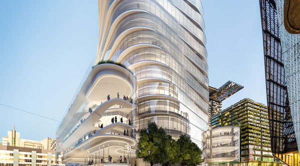 Artist impression of Building 2 from Jones St