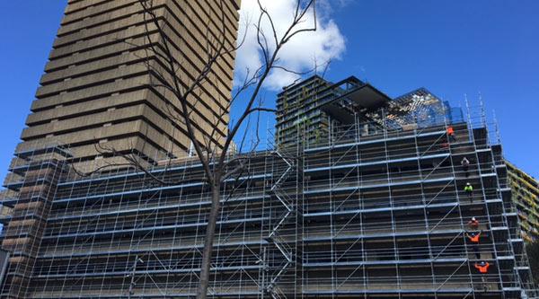Building 2 scaffolding