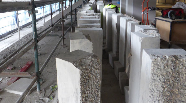 Concrete blocks from the Chancellery awaiting removal