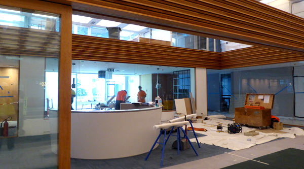 Fit-out of Chancellery reception area