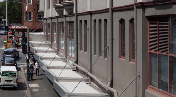 Shop awnings on Harris St