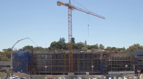 Construction at Moore Park reaches level 3